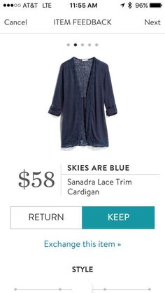 I like the look of this cardigan/blazer looking hybrid stitch fix stylist. I have a ton of black and grey.....so something is a tan, white or baby blue would be perfect