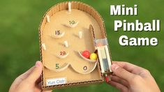 how to make a pinball machine with cardboard at home Games For Kids, Diy For Kids, Activities For Kids, Crafts For Kids, Diy Games, Cardboard Crafts, Upcycled Crafts, Paper Toys, Diy Toys