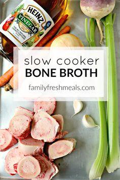 Slow Cooker Bone Broth, Bone Broth Soup, Slow Cooker Beef, Slow Cooker Recipes, Beef Recipes, Soup Recipes, Healthy Recipes, Healthy Foods, Potato Recipes