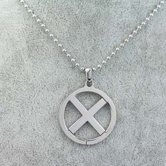 Hot Movie X-Men Logo Military Metal Pendant Chain Alloy Necklace Pendant…