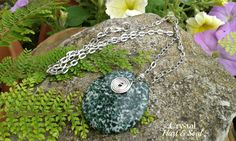 Green and white Jasper wire work pendant   http://CrystalHartandSoul.etsy.com