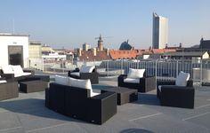 Das 'Veranstaltungszentrum der Leipziger Foren' liegt hoch über den Dächern der Stadt und überzeugt mit einem spektakulärem Blick über Leipzig.