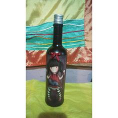 Wine bottle by the technique of decoupage. Decoupage, Wine, Bottle, Handmade, Decor, Hand Made, Decoration, Flask, Decorating