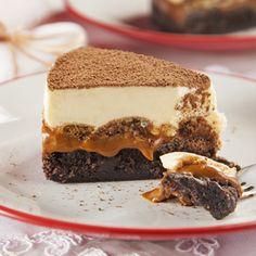 Torta Brownie de Tiramissu com Doce de Leite