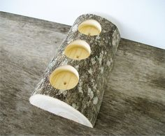 Items similar to Rustic Triple Tea Light Candle Holder Tree Branch Log Tealight Candle Holder on Etsy Christmas Crafts For Gifts, Christmas Projects, Tea Light Candles, Tea Lights, Birch Wedding, Tealight Candle Holders, Nature Crafts, Tea Light Holder, Rustic Christmas