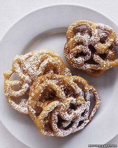 Mini Funnel Cakes Recipe -- dust with confectioners' sugar before serving.