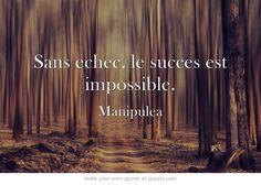 Sans echec, le succes est impossible.