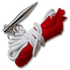 Rope dart on sale at Karate-Mart. Buy a kung fu rope javelin for your martial arts training or some chinese rope darts for your kungfu class. Rope Dart, Chinese Weapons, Self Defense Moves, Martial Arts Weapons, Martial Arts Workout, Tactical Knives, Knives And Swords, Chrome Plating, Kung Fu