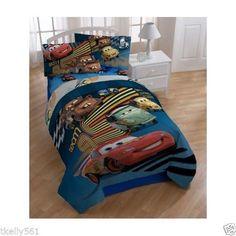 Full Size Comforter Set Disney Pixar Movie Cars Theme Lightning Mcqueen Kid Toy #Disney