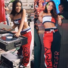 """aaliyahsources: """" Team Aaliyah y'all showed up and showed out for Halloween These are my favorite this year for Aaliyah costumes. Hip Hop Fashion, 90s Fashion, Fashion Outfits, Rock Fashion, Badass Halloween Costumes, Halloween Outfits, Retro Outfits, Urban Outfits, Aaliyah Costume"""