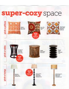 Our Bungalow 5 Hourglass Side Table Mahogany, featured in @HGTV Magazine Oct/Nov 2012! #laylagrayce #press