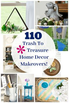 110 Trash To Treasure Decor Makeovers – Petticoat Junktion – Diy Poject Ideas Diy Recycle, Reuse, Fun Projects, Project Ideas, Upcycling Projects, Thrift Store Crafts, Trash To Treasure, Repurposed Items, Do It Yourself Projects
