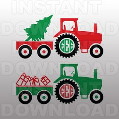 Christmas SVG,Farm Tractor Monogram SVG File Cutting Template-Vector Clip Art for Commercial and Personal Use-Download-Cricut,Cameo,Explore by sammo on Etsy https://www.etsy.com/listing/257140099/christmas-svgfarm-tractor-monogram-svg