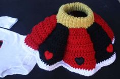 crochet skirt costume the red queen, cute for an Alice themed photo shoot.