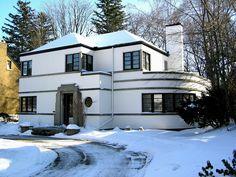Art Moderne era house in Kitchener, Ontario.