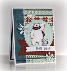 Stacey's Creative Corner: Shopping Our Stash Bear Card, Christmas Bird, Scrapbook Cards, Scrapbooking, Bird Cards, Animal Cards, Winter Cards, Card Sketches, Card Tags