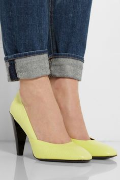 KENZO | Lizard-effect leather pumps | Net-A-Porter