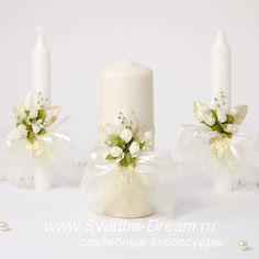 6 свадебные свечи