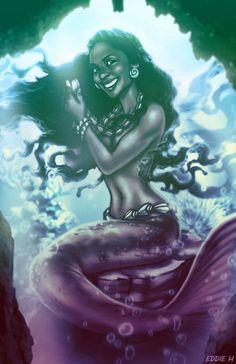 AFRICAN MERMAID FANTASY PICTURES   Black Mermaids : The Faces of Yemaya