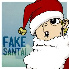 Some doodle of a kid I named JOEL CHRISTOPHER: FAKE SANTA!