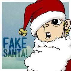 Some doodle of a kid I named JOEL CHRISTOPHER: FAKE SANTA!