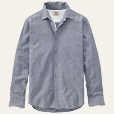 Men's Lane River Slim Fit Chambray Shirt