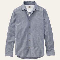 Men's Lane River Slim Fit Chambray Shirt