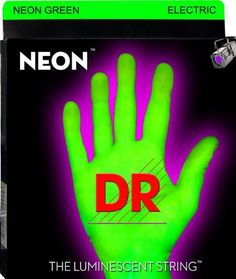 Neon Green Electric Guitar Strings