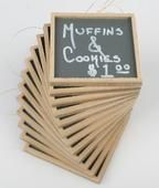 Inexpensive mini chalkboards - for labeling foods, placecards...so many entertaining uses!