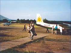 Photo: The Old Nevis Express Airport...back in the day when there were flights, and Nevis even had it's OWN airline - #Nevis Express 1 seen on the tarmac. Circa -1996?