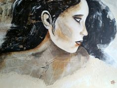 Mixed media Beautyful lady Mixed Media, Artwork, Paintings, Beauty, Lady, Work Of Art, Auguste Rodin Artwork, Paint, Painting Art