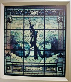 Statue of Liberty Stained Glass Window-galenfrysinger.com