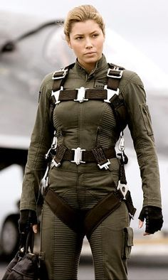 Jessica Biel strapped on the gear to play a U.S. Navy pilot in 2005's 'Stealth.'