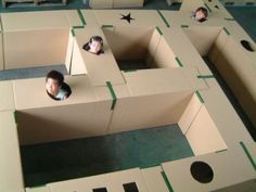 cajas de cartón  Lee el artículo completo en : http://hagamoscosas.com/cajas-de-carton/ #cajadecarton #juegosparaniños