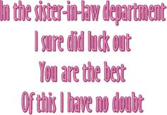 An ecard for your sister-in-law with a nice verse for sister-in-law