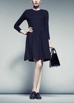 Vogue Dress in Black - pink tartan