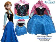 Princess Ana Anna Frozen disney Elsa dressup costume dress ball gown flower girl glitz pageant outfit  La Reine des neiges quinceanera xv on Etsy, $125.00