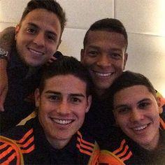 Wow.... El Santi Arias, Freddy Guarin, James Rodriguez Y Juan Fernando Quintero! <3