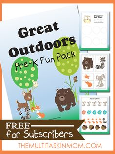 The Great Outdoors PreK Fun Pack - FREE for subscribers