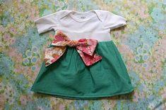 baby onesie dress diy
