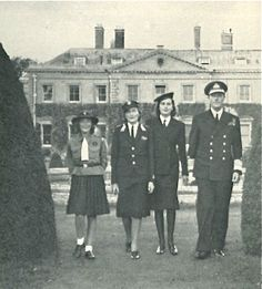 Everyone in uniform, even my mother!