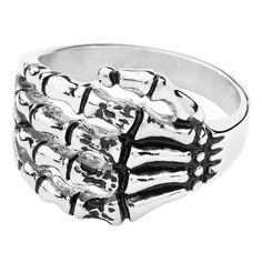 """Anello """"Dead Hand"""" del brand #Wildcat. Materiale: acciaio inossidabile. l.: 15 mm."""