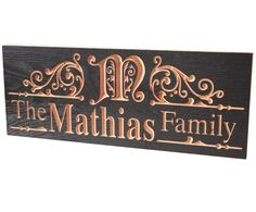 Name Sign Personalized Signs Carved Wooden by BenchMarkCustomSigns, $39.95