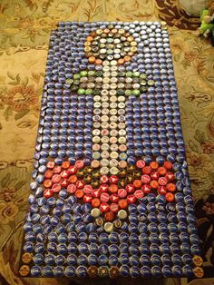 Anchor Coffee Table made out of Bottle Caps