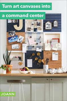 This canvas art command center is a fantastic and easy upcycle project! Just take a collection of canvases & turn them into a go-to spot for notes, mementos and to-do lists. You won't remember how you lived without it! Easy Diy Projects, Craft Projects, Creative Skills, Home Hacks, Canvases, Upcycle, Canvas Art, Sweet Home, Notes