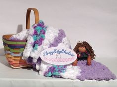 Contemporary Crocheted Baby Blanket  by SleepyBabyBlankets on Etsy