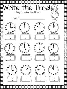 1000 images about telling time on pinterest cut and paste rock around the clock and drawing. Black Bedroom Furniture Sets. Home Design Ideas