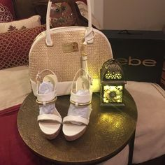 BEBE PURSE AND MATCHING SHOES NWT Bebe shoes and purse size 7 bebe Bags Shoulder Bags