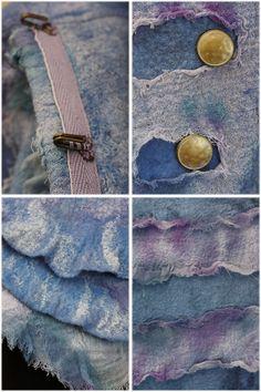 Купить Гусарская баллада - васильковый, лавандовый, серый, гусарский, одежда из войлока, валяный жакет