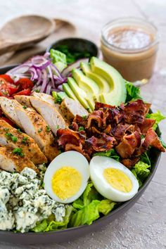 Salad Recipes Video, Salad Recipes For Dinner, Healthy Salad Recipes, Appetizer Recipes, Salada Cobb, Clean Eating, Healthy Eating, Vinegar Dressing, Food Articles